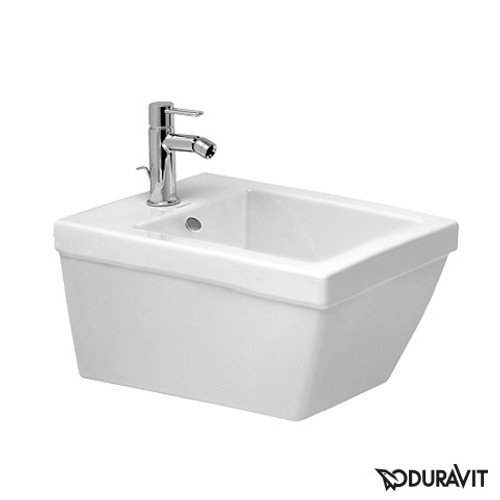 Duravit 2nd floor wall-mounted bidet white, with WonderGliss