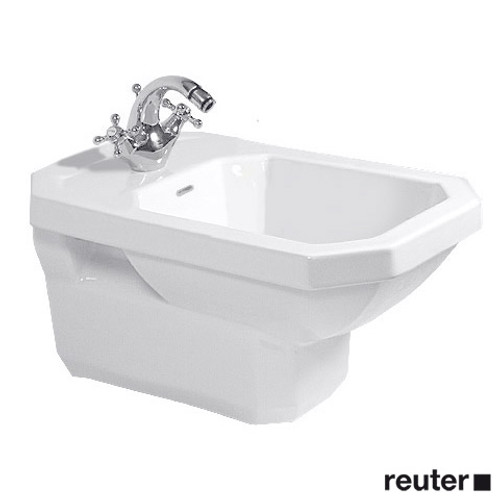 Duravit 1930 wall-mounted bidet L: 58 W: 36 cm white, with WonderGliss