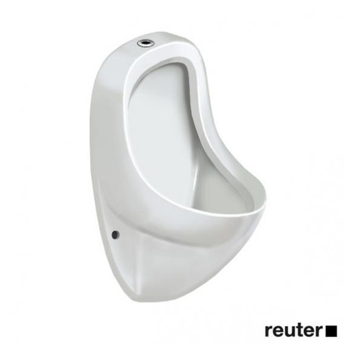Duravit Ben urinal, top inlet white, with WonderGliss, model with fly