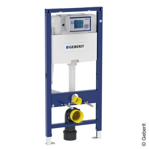 Geberit Duofix element for wall-mounted toilet, H: 112 cm with Omega concealed cistern