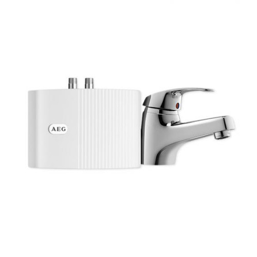 AEG MTH small instantaneous water heater MTH 350 with single lever basin mixer, 3.5 kW