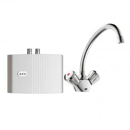 AEG MTH small instantaneous water heater MTH 350 with 2 handle fitting, 3.5 kW