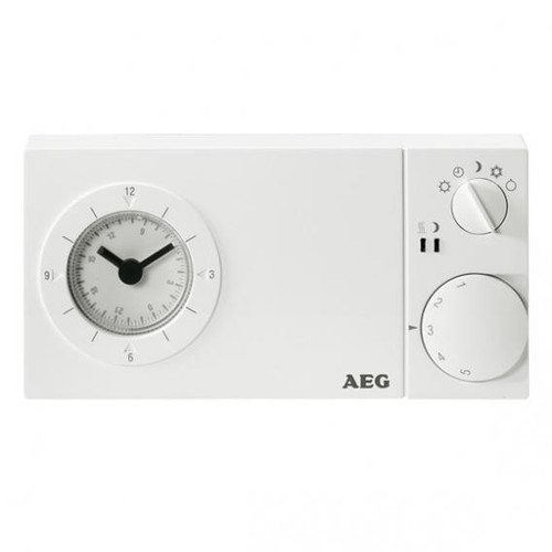 AEG floor temperature control with 24 hour clock for exposed installation