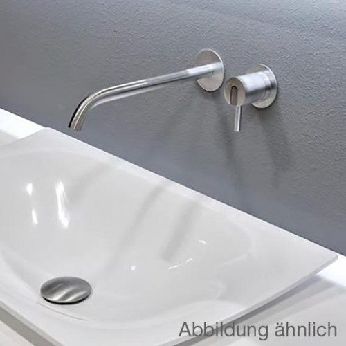 antoniolupi AYATI basin wall spout projection: 250 mm, polished stainless steel