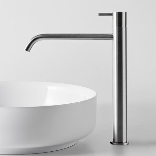 antoniolupi AYATI single handle basin mixer polished stainless steel