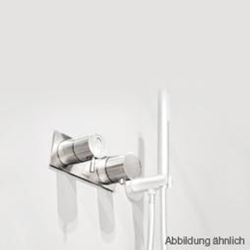 antoniolupi AYATI concealed, single handle shower mixer with diverter with trim plate polished stainless steel