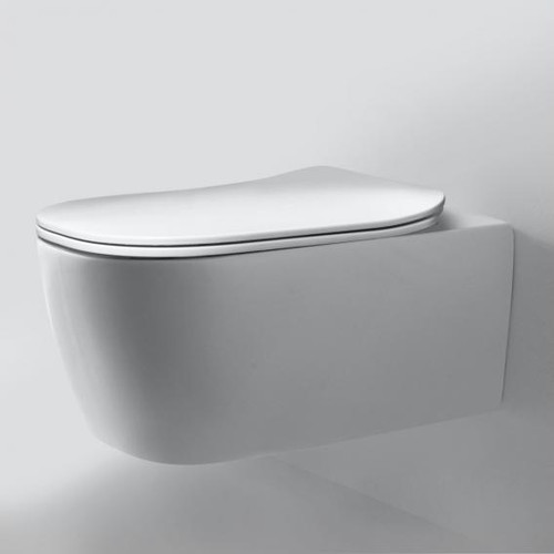 antoniolupi KOMODO wall-mounted toilet with toilet seat Flat polished white