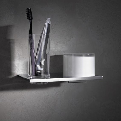 Keuco Edition 400 double holder with tumbler and lotion dispenser, wall-mounted 11553019000