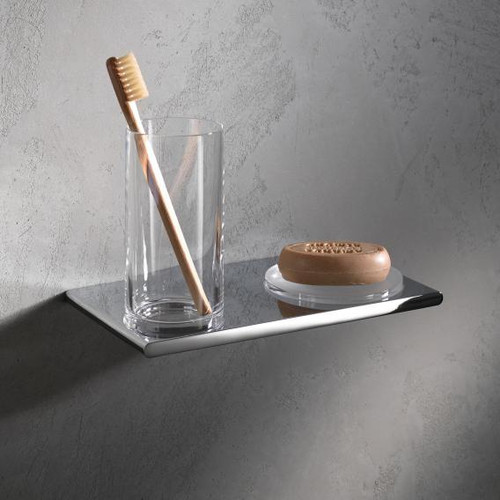 Keuco Edition 400 double holder with tumbler and soap dish, wall-mounted 11556019000