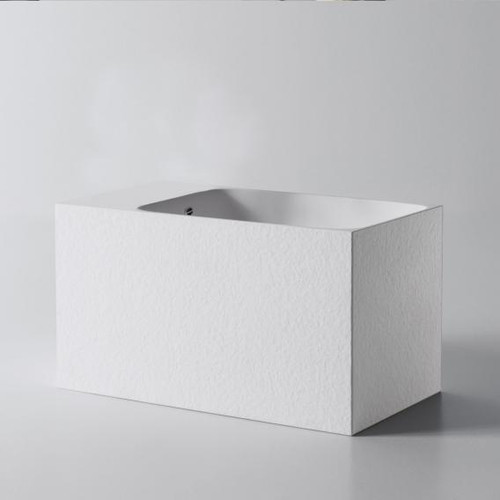 antoniolupi CALCO hand washbasin textured white, without tap hole, with overflow