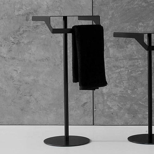 antoniolupi GINO table with towel rail matt black GINO2#NERO