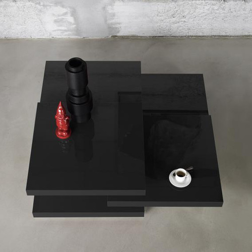 Kristalia redor lacquered side table 25ROT01#9005GLANZ