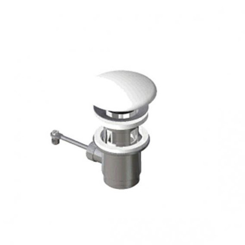 Laufen waste valve with ceramic cover and pull rod white
