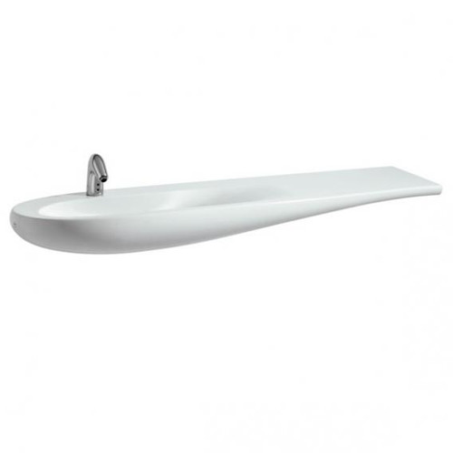 Laufen Alessi One vanity washbasin white, with Clean Coat, with 1 tap hole, with concealed overflow