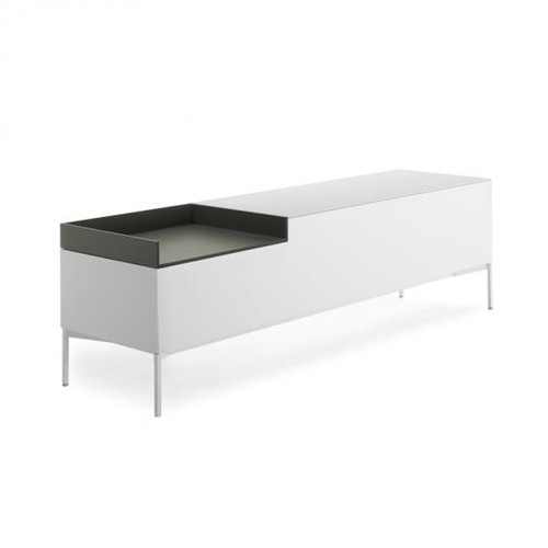 MDF Italia INMOTION sideboard with cable hole, open compartment left F012314W160F008F018
