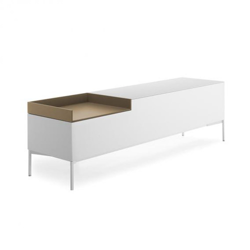 MDF Italia INMOTION sideboard with cable hole, open compartment left F012314W160F008F029