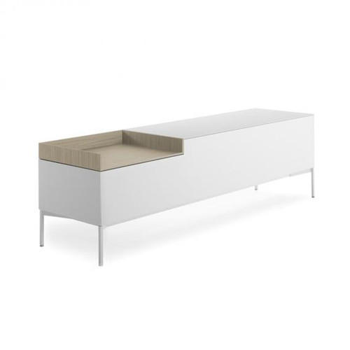 MDF Italia INMOTION sideboard with cable hole, open compartment left F012314W160F008F048