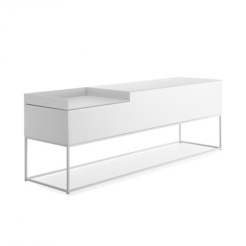 MDF Italia INMOTION sideboard with cable hole, open compartment left F012316W160F008F008