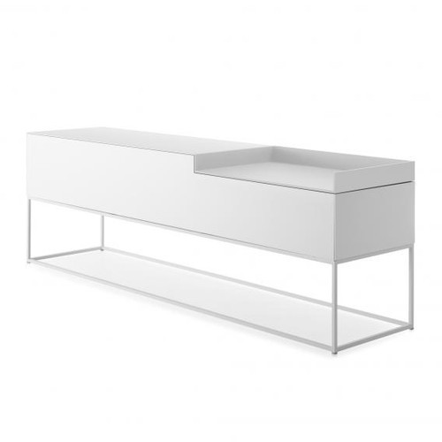 MDF Italia INMOTION sideboard with cable hole, open compartment right F012316W203F008F008