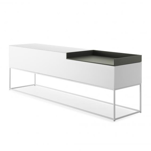 MDF Italia INMOTION sideboard with cable hole, open compartment right F012316W203F008F018