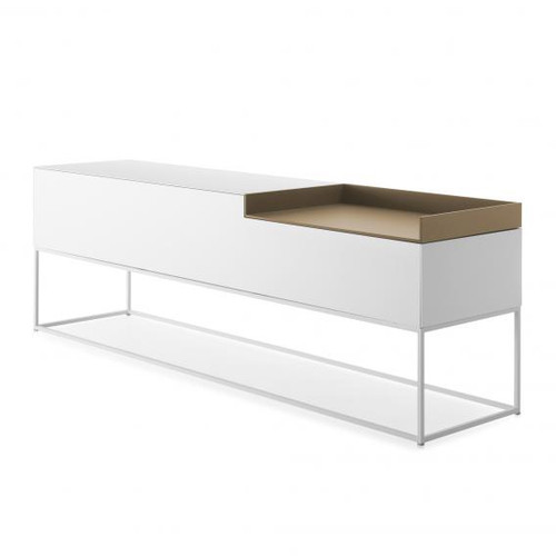 MDF Italia INMOTION sideboard with cable hole, open compartment right F012316W203F008F029