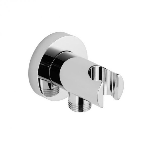 Avenarius wall-mounted shower bracket with integrated shower connection 1/2""