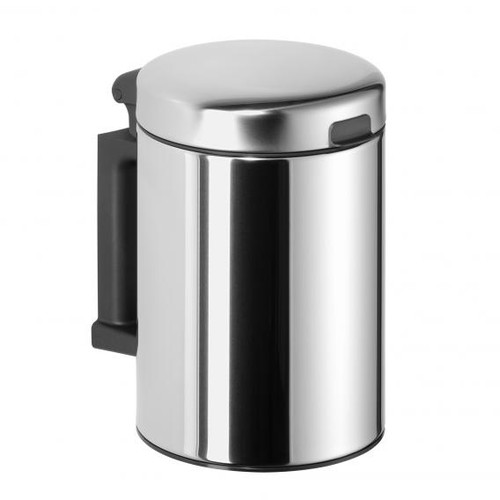 Avenarius wall-mounted cosmetic bin 3 litres polished stainless steel