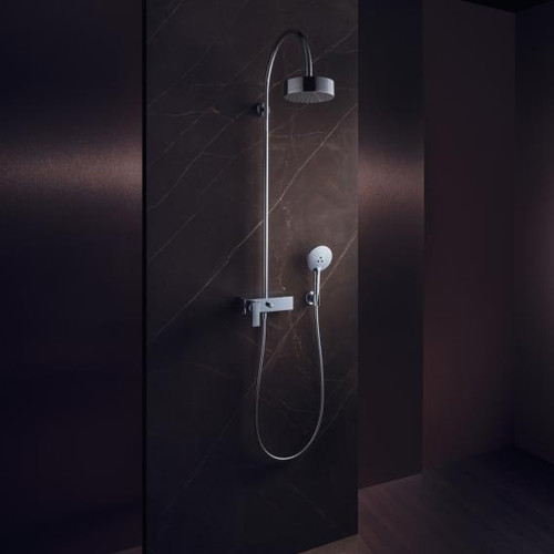 AXOR Citterio Showerpipe with single lever mixer and 1jet overhead shower
