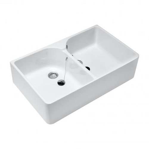 Villeroy & Boch O.novo double sink white, with AntiBac 633100T1