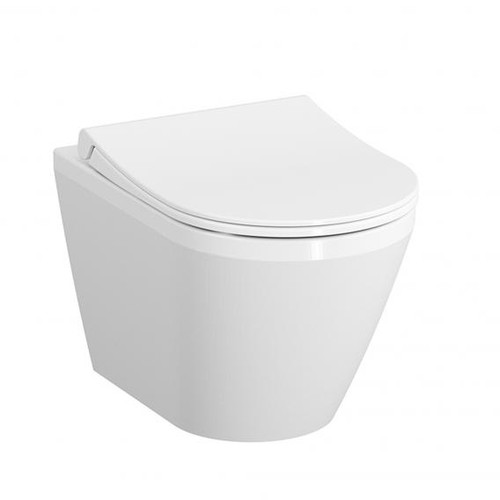 VitrA Integra wall-mounted washdown toilet with bidet function white, with VitrAclean 7060B403-0090