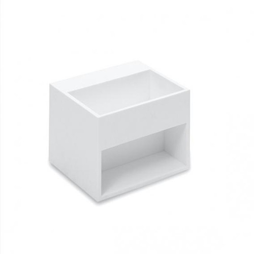 Cosmic Compact washbasin with 1 compartment W: 32.5 D: 32.5 cm white, without tap hole