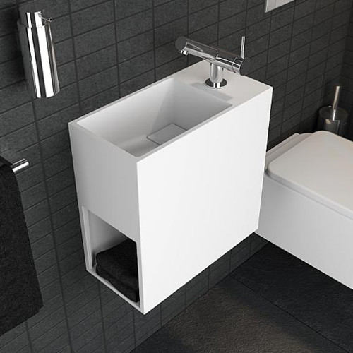 Cosmic Compact washbasin with 1 compartment W: 40 D: 40 cm 739120611