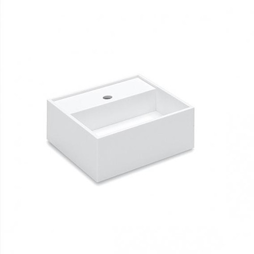 Cosmic Compact washbasin W: 32.5 D: 32.5 cm white, with 1 tap hole