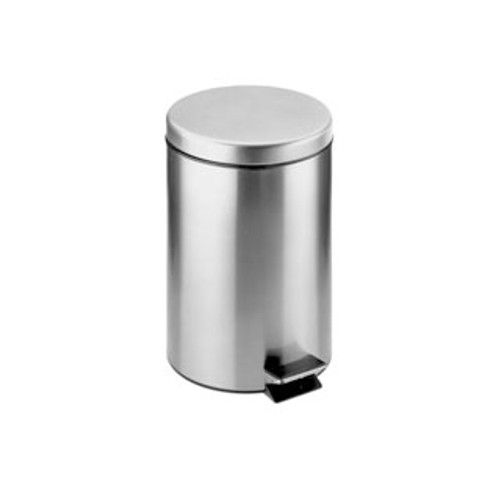 Cosmic Architect waste bin polished stainless steel