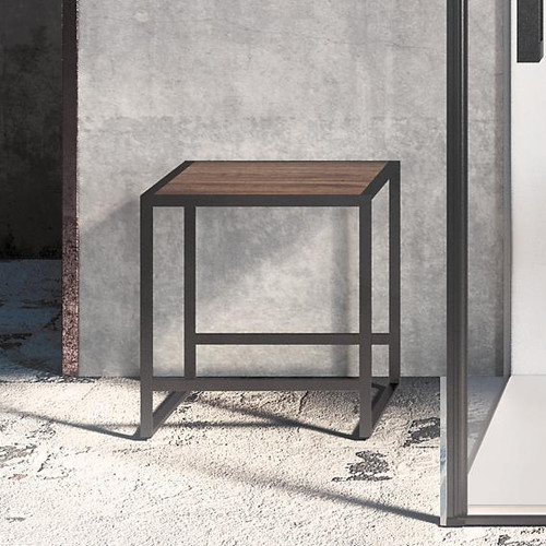Cosmic The Grid stool dark oak/matt black 768000616036195