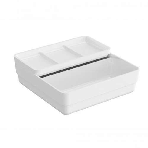 Cosmic b-smart container with sliding lid white