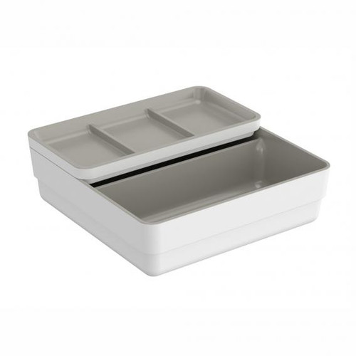 Cosmic b-smart container with sliding lid white/grey
