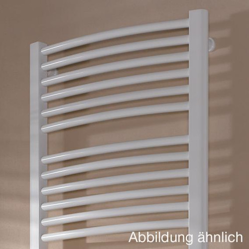 Kermi Basic R-E radiator, electric operation only, with curved tubes metallica, 1200 Watt, electric set WFC R ERE10150090WHXK