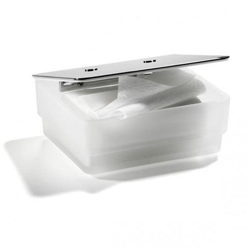 Giese toilet-uno glass container for wet wipes 31773-02