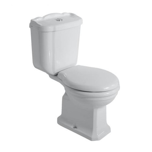 Globo PAESTUM PA 003 close-coupled, floor standing toilet L: 67 W: 38 cm, vertical outlet PA003BI