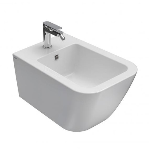 Globo STONE wall-mounted bidet, short version white, with CEARSLIDE® and BETAFORM® STS10BI