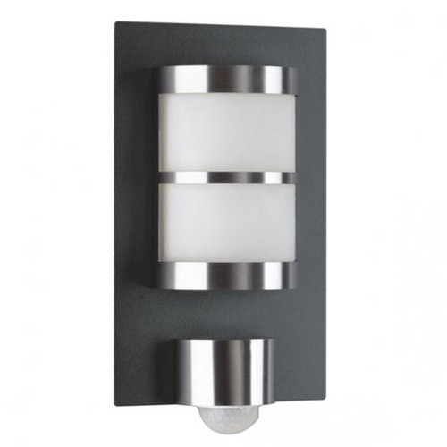 Albert bi-colour wall light with motion detector