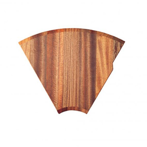 Rieber chopping board 1/6 mahogany without cut-out