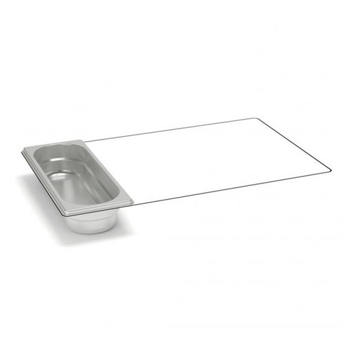 Rieber waterstation stainless steel gastronorm container 2/8 unperforated