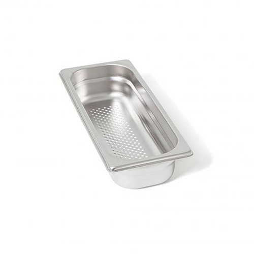 Rieber waterstation stainless steel gastronorm container 2/8 perforated