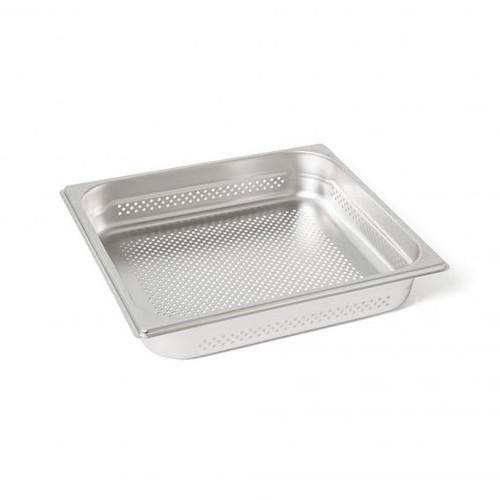 Rieber waterstation stainless steel gastronorm container 2/3 perforated