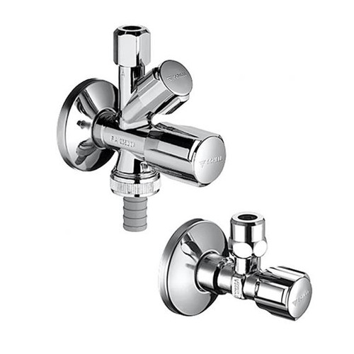 Schell valve connection set COMFORT, combination angle valve with regulating angle valve, DVGW certified