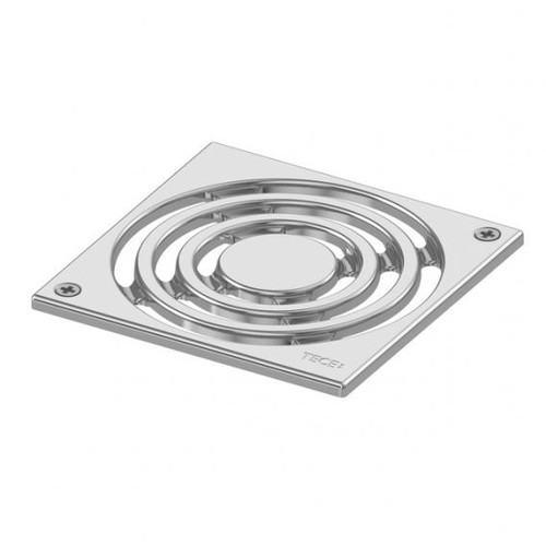 TECE drainpoint S design grate stainless steel, screw-down L: 14.2 W: 14.2 cm
