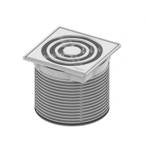 TECE drainpoint S grate frame stainless steel incl. designer grate L: 10 W: 10 cm