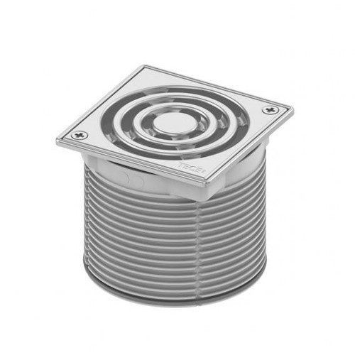 TECE drainpoint S grate frame stainless steel incl. designer grate, screw-down